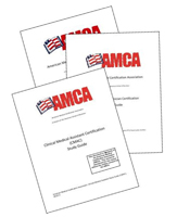 After Registering For An AMCA Certification Exam All Candidants Will Receive Via Email A PDF Of Study Guide Material Is Included In